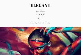 <b>Elegant</b> Theme - Minimal Blog & Portfolio