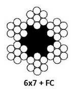<b>Трос</b> оцинкованный стальной d. <b>4мм DIN 3055</b> (6x7+FC)