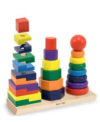 Kids <b>Toys</b>, Geometric Stacker | <b>Melissa</b> and <b>doug</b>, Wooden ...