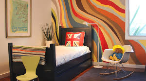 charming bedroom ideas with colorful wall paint color scheme and black varnished mahogany wood bed frame amazing awesome black painted mahogany