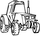 Тракторы раскраска онлайн