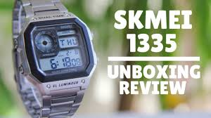 Skmei 1335 Unboxing and review - YouTube