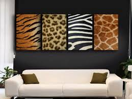 Leopard Print Living Room Stunning Animal Prints Wall Decor In Modern Living Room Design