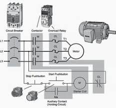 on off 3 phase motor connection control diagram electrical 240V Motor with Thermal Protection 240v Wiring Diagram Motor Starters motor starter wiring diagram