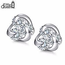 2019 <b>Effie Queen 100</b>% Genuine <b>925</b> Sterling Silver Earrings For ...