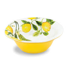 <b>Michel Design Works Lemon</b> Melamine Medium Bowl | NZ | Online