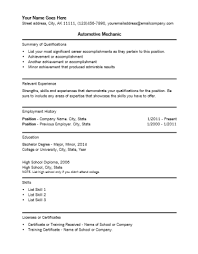 automotive resume automotive and manufacturing engineering automotive mechanic resume template