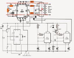 pure sine wave inverter circuit using ic 4047 Sine Wave Inverter Circuit Diagram assumed output waveform sine wave inverter circuit diagramusing 555