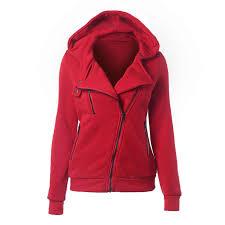 Laamei Long Sleeve <b>Sweatshirts Women Hoodies</b> Zipper Pocket ...