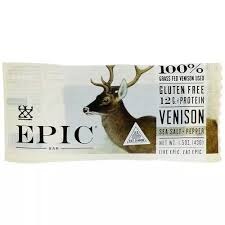 Epic Bar Meat Snacks <b>Venison Sea Salt Pepper</b>