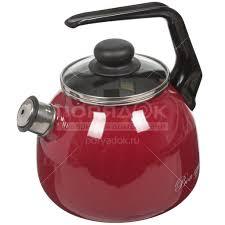 <b>Чайник эмалированный</b> Vitross Bon appetit вишневый <b>со</b> ...