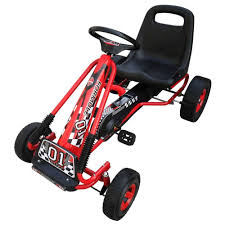 Simply Wholesale <b>Pedal Go Kart with Adjustable</b> Seat - Red | Ride ...