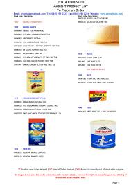Penta Foods Ambient Product list April 2017 by Zornitsa Taskova ...