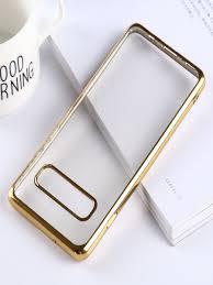 <b>Чехол</b> для Samsung Galaxy S10 силиконовый с гальваникой ...