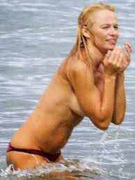 Uncensored Gutter. is trying to cover her boobs with her hands. Anyway Pamela Anderson was hot many years ago and now here she is topless 20 years later. Enjoy