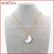 """<b>BOROSA</b> Design <b>5 10PCS</b> 16"""" Fashion Gold Color Natural White ..."""