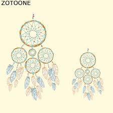 <b>ZOTOONE Feathers Dreamcatcher Patches</b> For Clothes T shirt ...