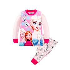 Online Shop 2T-8T Girls Princess <b>Pajamas Children Sleepwear Kids</b> ...