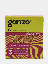 """<b>Презервативы</b> """"<b>Ganzo</b>"""" <b>LONG</b> LOVE №3 (пролонгирующие) с ..."""