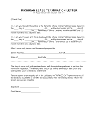 michigan lease termination letter form 30 day notice word michigan lease termination letter form 30 day notice word pdf eforms fillable forms