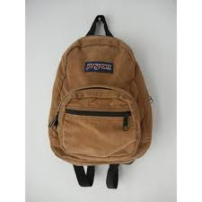 jansport mini backpack tan corduroy hipster tumblr grunge unisex bag small jansport front zipper pockets great vintage condition so adorable accessoriesendearing lay small