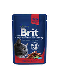<b>Brit Premium</b> Cat Pouches with Beef Stew & Peas 100 g