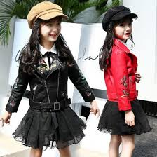 <b>Fashion</b> Plus Cotton Winter Jacket Girl <b>Magpie Embroidered</b> Leather ...