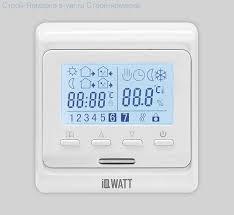 <b>ТЕРМОРЕГУЛЯТОР</b> для теплого пола <b>IQWatt</b> THERMOSTAT P ...