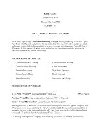 Visual Merchandiser Job Description Resume Free Resume Example