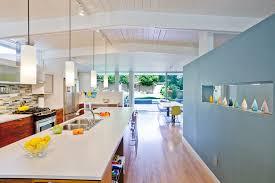 pendant track lighting kitchen midcentury with accent wall blue wall blue track lighting