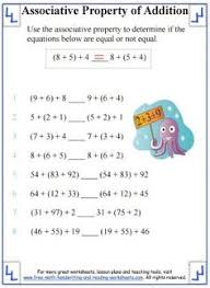 Properties of addition, Addition worksheets and Worksheets on ...Associative Property of Addition Worksheet 1
