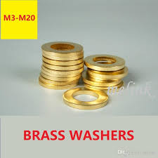 2019 <b>Plain Washer</b> Brass <b>Metal Gasket Flat Washer</b> Ring M3 M4 M5 ...