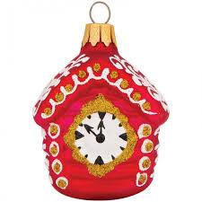 <b>Элита Елочное</b> украшение Домик с часами 7.5 см - Акушерство.Ru