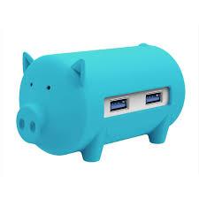 USB hub <b>3</b>-<b>port</b> USB 3.0, card reader, OTG, <b>ORICO</b> Little pig, BLUE ...
