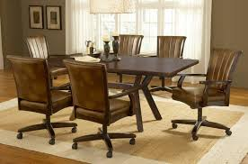 casual dining chairs with casters: image of dining chairs with casters plan