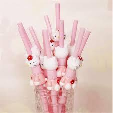 decor pink pcs lot aliexpresscom buy  pcs lot kawaii hello kitty cartoon pink drinking st