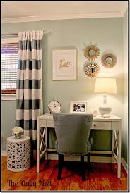 gold decor desk this looks like it could make paying bills relaxing and enjoyable chic mint teal office