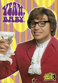 A movie trilogy about a temporally displaced British Ministry of Defence agent, Austin Powers, and his archnemesis, Dr. Evil, who is obsessed with taking ... - austin-powers-cocktail-glass-4900072