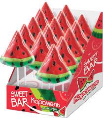 Sweet Bar Арбузик <b>карамель на палочке</b>, 15 шт по 40 г — купить в ...