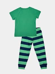 ПИЖАМА ДЛЯ МАЛЬЧИКОВ (<b>ФУФАЙКА</b>, БРЮКИ) цвет зеленый ...