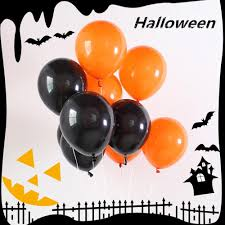 10pcs Kids <b>Halloween</b> Emulsion <b>Balloon Festival</b> Home Decorations ...