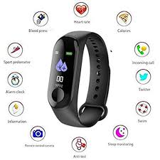 m3 smart sports band color screen watch heart rate and blood pressure monitor bracelet men women watc