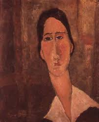 Jeanne Hebuterne with white collar - Amadeo Modigliani - jeanne_hebuterne_white_collar_hi