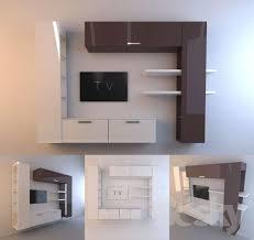 3d models: Other - <b>wall unit</b> for <b>TV</b>