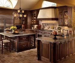 Small Picture U Shaped Kitchen Design with Cherry Cabinets Decora