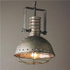 industrial caged pendant with rivets cage lighting pendants