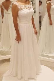 <b>2019</b> Chiffon Long <b>Wedding Gowns</b>,Lace Cap Sleeve <b>Beach</b> ...