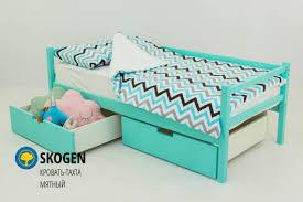 Детская <b>кровать тахта Бельмарко Skogen мятный</b> — купить за ...
