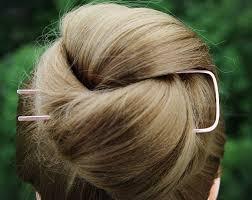 Square <b>End</b> Hair Fork, Copper Hair Pin, Hair Bun Holder, Stick ...