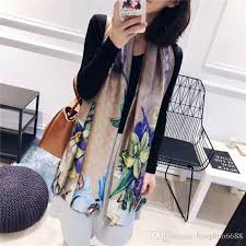 <b>Luxury Brand Silk</b> Scarf For Women <b>2019</b> Summer New Designer ...